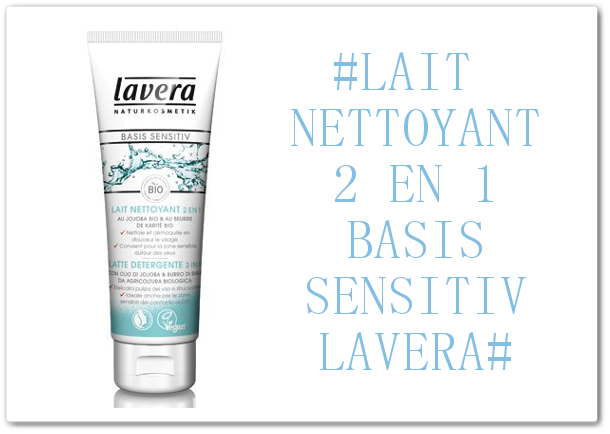 DEMAQUILLAGE EXPRESS AVEC LE LAIT NETTOYANT 2 EN 1 BASIS SENSITIV DE LAVERA