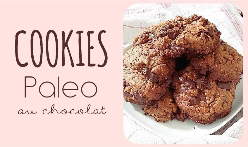 cookies chocolat sans gluten sans lactose paleo