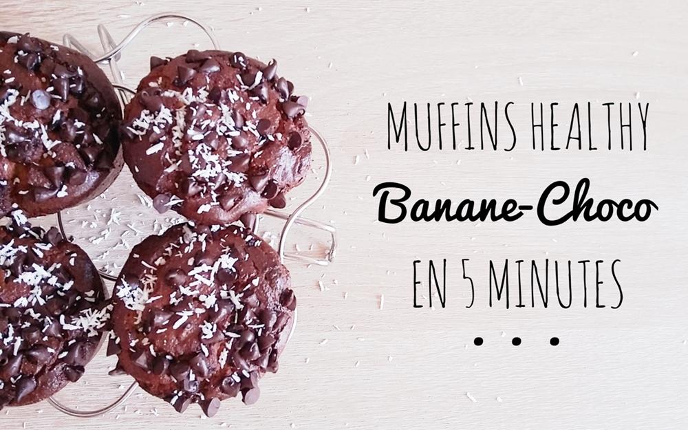 Muffins banane-chocolat sans gluten & paleo prêts en 5 minutes