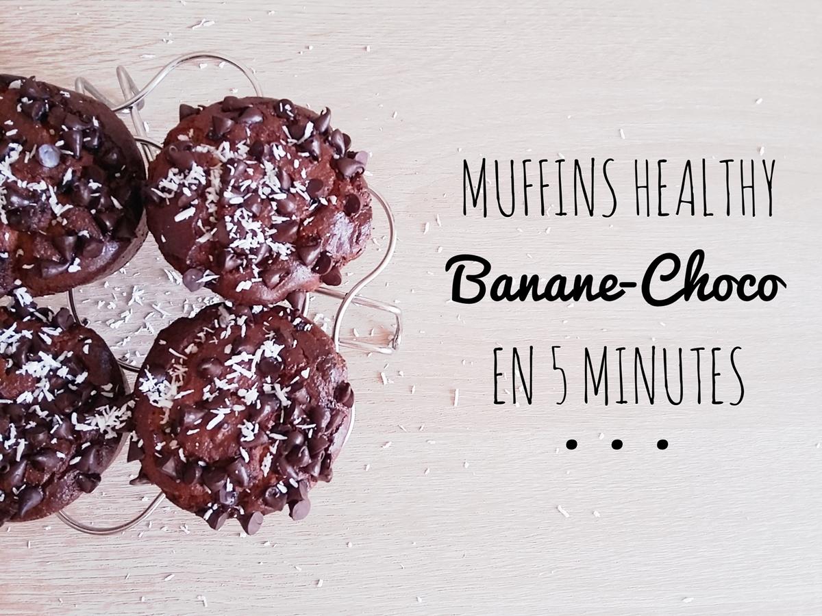 Muffins banane-chocolat paleo & sans gluten en 5 minutes