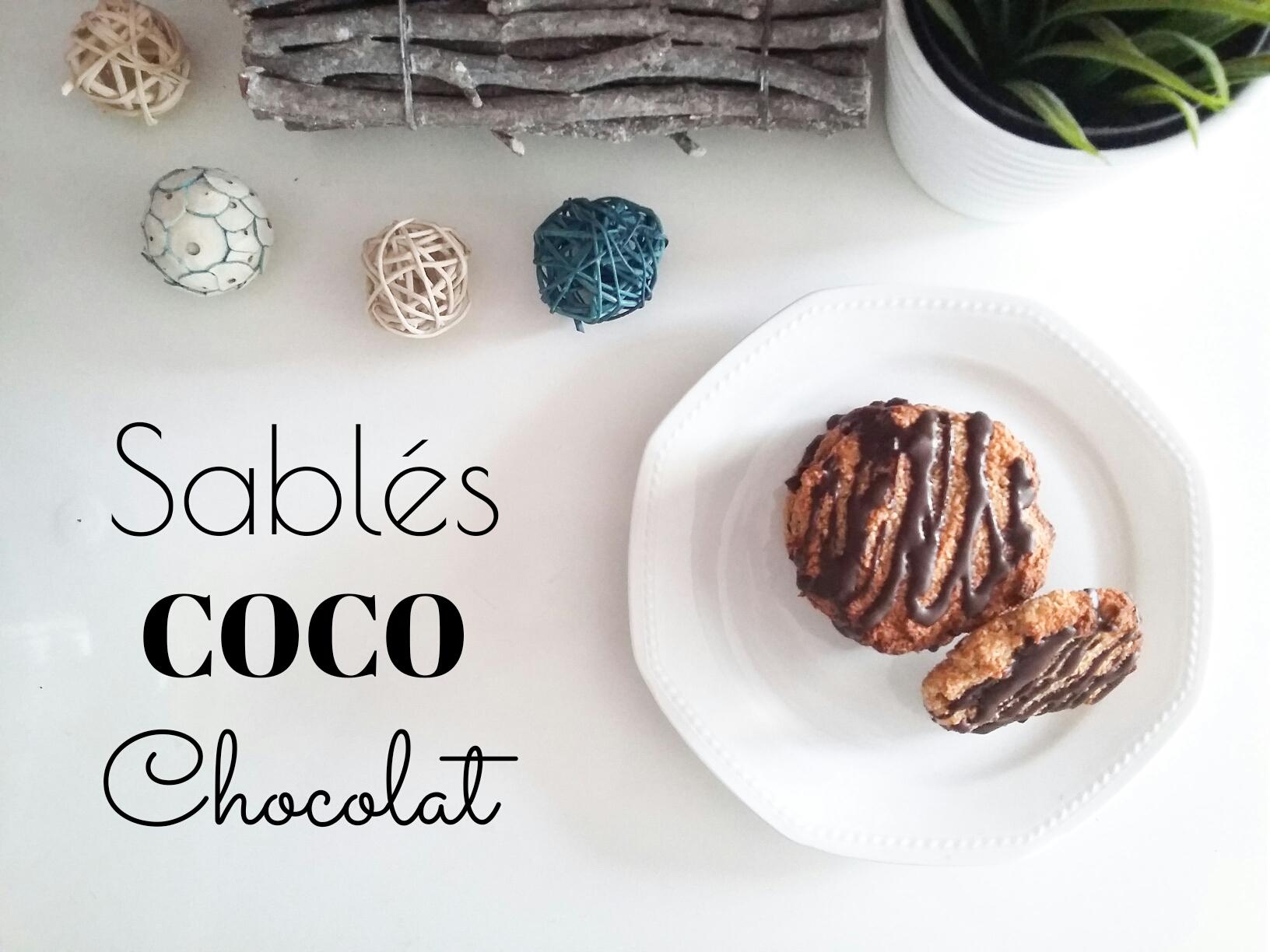 Sablés coco chocolat sans gluten à tomber