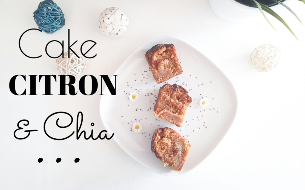 Cake au citron et graines de chia vegan & sans gluten