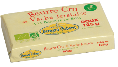 matières grasses : beurre cru bio bernard gaborit