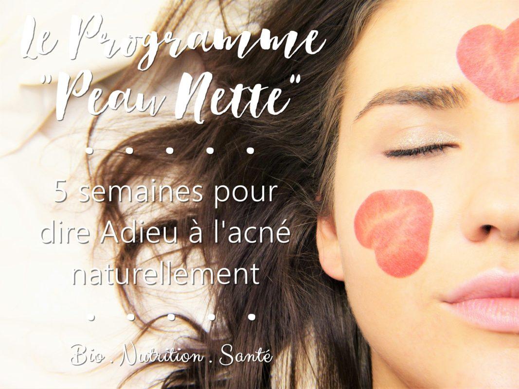 bannière programme anti acné peau nette bio nutrition santé