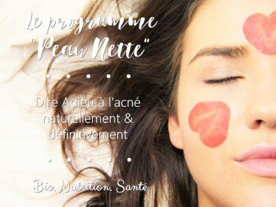 programme coaching anti-acné Peau Nette - Bio Nutrition Santé