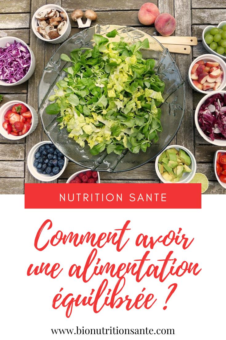 alimentation équilibrée - bionutritionsante.com