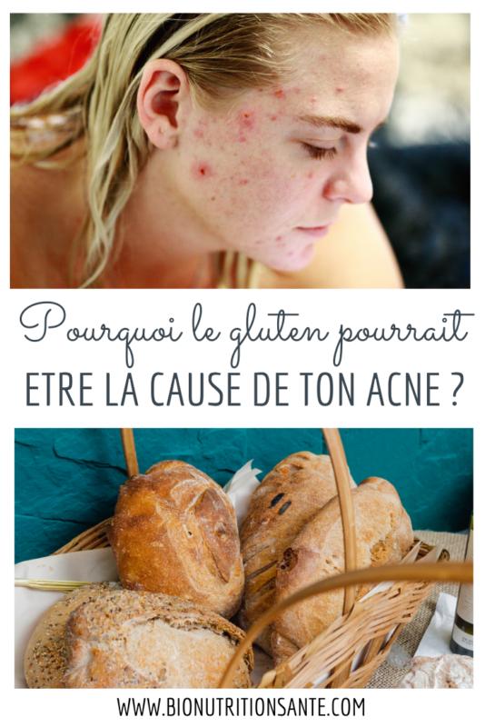 Pourquoi le gluten pourrait être la cause de ton acné ? - bio nutrition santé